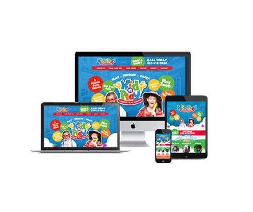 Kid-n-Play Website Design - Raxa Design & Marketing